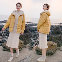 韩版宽松秋冬款孕后期孕妇棉衣棉袄冬装加厚外套