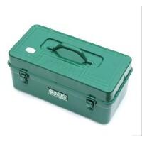 老A(LAOA)16寸加厚五金工具箱带隔层铁皮箱LA113410