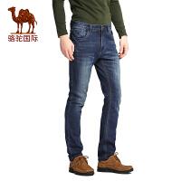 骆驼男装 春秋季商务休闲男士牛仔裤青年合身休闲长裤子男