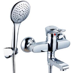 贝乐BALLEE简易花洒套装全铜浴缸龙头明装花洒四件套11048-4