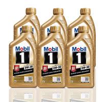 美孚(Mobil) 金美孚1号新品 金装 发动机润滑油 汽车机油 全合成机油 API SN 0W-30 1L*6