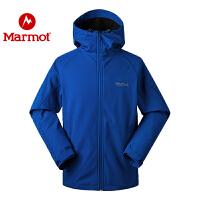 Marmot/土拨鼠2020新款户外男士M1耐磨舒适防水透气软壳衣