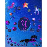 【预订】Starry Unicorns Notebook Monogram Series Y: College Rule