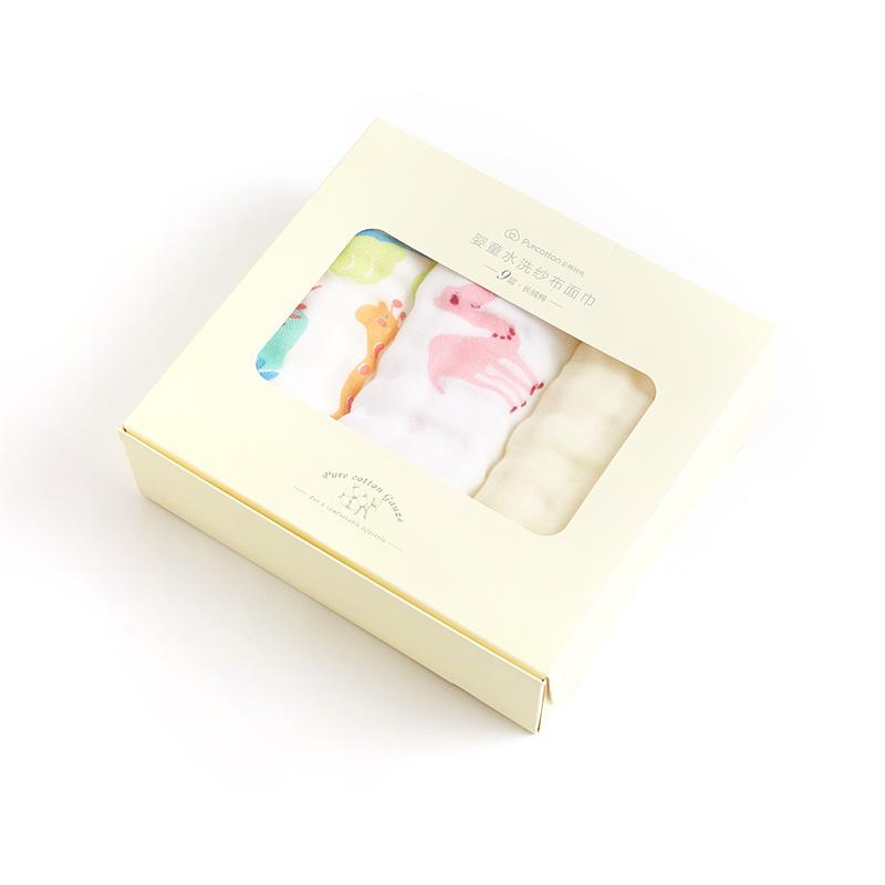 全棉时代 婴童9层水洗纱布面巾25cm×50cm3件装