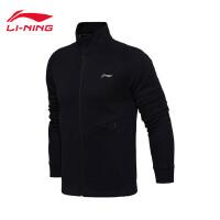 李宁卫衣男士训练系列开衫外套保暖立领男装冬季运动服AWDM657