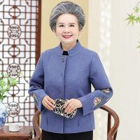 奶奶毛呢外套老年人秋装女60岁50妈妈装呢子短款上衣大码端庄大气 L 建议80-95斤