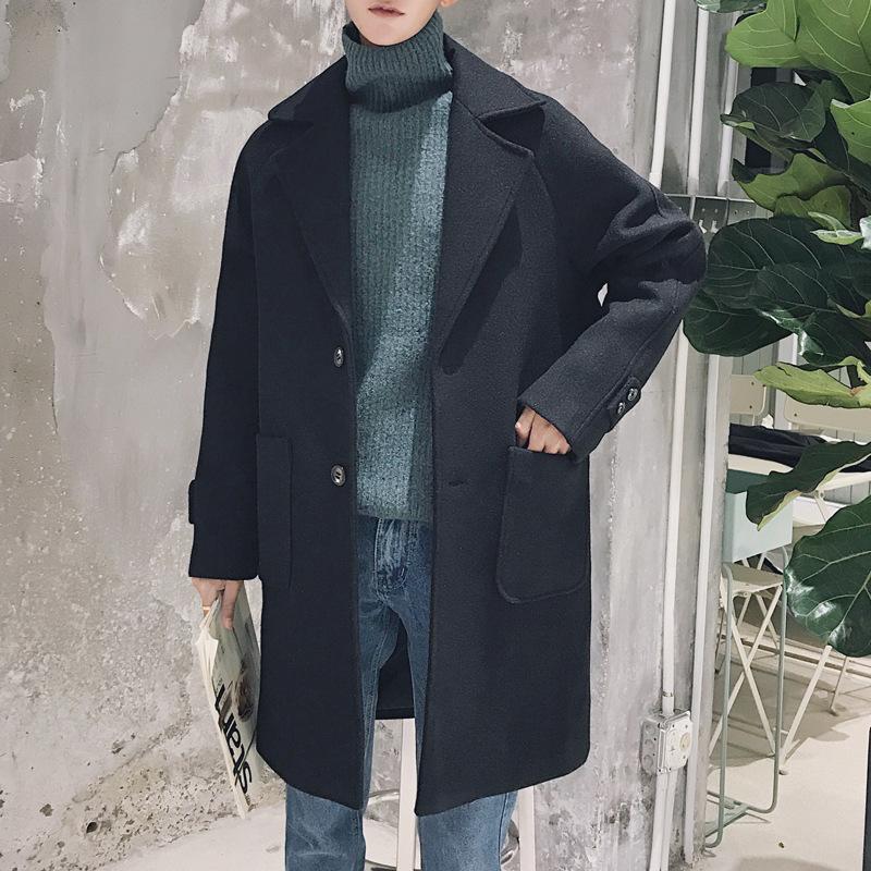 男士风衣新款潮流帅气呢子外套秋冬季翻领学生中长款毛呢大衣DE29 发货周期:一般在付款后2-90天左右发货,具体发货时间请以与客服协商的时间为准