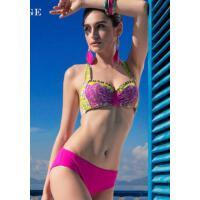 沙滩性感 唯美时尚   性感比基尼泳衣女大胸聚拢三角 带钢托固定胸杯    支持礼品卡