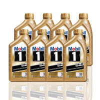 美孚(Mobil) 金美孚1号新品 金装 发动机润滑油 汽车机油 全合成机油 API SN 0W-40 1L*8
