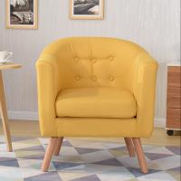 鑫宣美XM-SF104木质布艺沙发圈椅单人位
