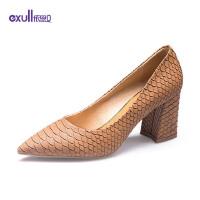 依思q单鞋春季新款性感百搭浅口单鞋舒适女鞋88150082*