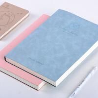 康奈尔笔记本子笔记本a4考研横线高效方格本大号大学生加厚皮面本