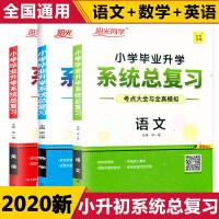 阳光同学小学毕业升学系统总复习语文数学英语全套3本全国通用2022版