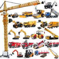 工程车合金玩具车挖掘机翻斗车搅拌车铲车儿童仿真汽车模型