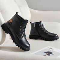 19珂卡芙冬季新款【金属扣件】简约时尚马丁靴防滑通勤百搭女靴