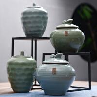 茶�~罐陶瓷茶盒茶�}旅行�ξ锕奁斩�罐存茶罐功夫茶具