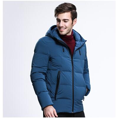 坦博尔短款羽绒服男士加厚商务休闲新款冬季连帽修身版外套TA3365初冬来袭 温暖相随