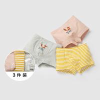 【每满299元减100元】迷你巴拉巴拉男幼童平角内裤年冬装新款宝宝多件3条装平角裤