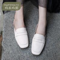 玛菲玛图真皮凉拖鞋女外穿时尚春夏新款季包头平底女式凉鞋复古手工鞋1641-3