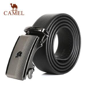 Camel骆驼腰带新款男士牛皮皮带商务休闲锌合金自动扣男腰带