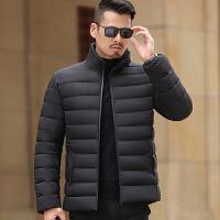 冬季新款中年男士加厚款羽绒棉棉袄棉衣爸爸冬装外套中年大叔