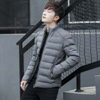 男士棉衣秋冬外套棉服潮冬装上衣加厚青年棉袄韩版修身帅气外套潮