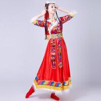 藏族舞蹈演出服装女水袖衣服新款广场舞长裙民族风西藏服套装 XXX