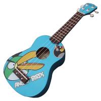 尤克里里 四弦小吉他 大嘴鸟 椴木彩色21寸卡通迷你小吉他 21寸