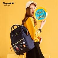 女初中学生书包韩版学院风甜美双肩包女士百搭休闲旅行背包