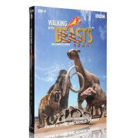 正版BBC科学纪录片 与野兽同行 盒装2DVD光盘 中英双语D9影碟片