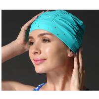 游泳帽女士长发护耳柜大号泳帽舒适时尚新款专 可礼品卡支付