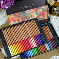 秘密花园 填色MARCO/马可3100雷诺阿彩色铅笔48色铁盒装油性彩铅彩笔