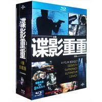 正版电影高清1080p 谍影重重1234合集蓝光4BD50四部曲光盘碟片