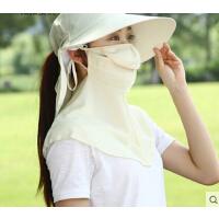 帽子女 韩版骑车遮阳帽可折叠防紫外线防晒帽大沿太阳帽遮脸帽