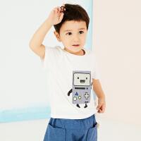 【秒杀价:49元】马拉丁童装男小童短袖T恤趣味贴布印花