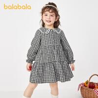 【2件6折价:101.9】巴拉巴拉童装女童连衣裙儿童裙子秋装2021新款小童宝宝公主裙洋气
