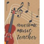 预订 Awesome Music Teacher: Music Teacher Planner, Lesson Pla