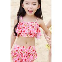 沙��和�游泳衣女童女孩泳�b公主比基尼����分�w裙式小中大童泳� 支持�Y品卡