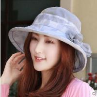 多功能遮阳帽太阳帽花朵防紫外线沙滩帽防晒帽百搭女士凉帽花朵户外帽子