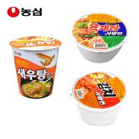 韩国进口 农心 辣白菜 辣牛肉 虾汤 小碗组合