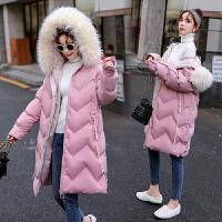 中长款宽松怀孕期连帽外套2019新款孕妇装冬装韩版棉衣
