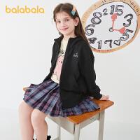 【2件6折价:128.9】巴拉巴拉女童外套儿童春秋便服休闲运动新款2021中大童棉可爱时尚
