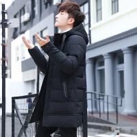 推荐:★★★★★冬季男士外套韩版新款男装棉衣中长款潮流保暖加厚连帽羽绒棉袄潮