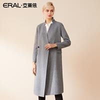 ERAL/艾莱依双面毛呢大衣女中长款2018新款外套女士617072002