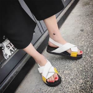 ELEISE美国艾蕾莎新品061-G09-1学院女士凉鞋