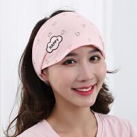 产妇包头巾女冬季可爱孕妇帽子月子帽秋冬产后头带坐月子发带