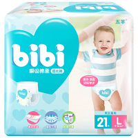 [当当自营]五羊 fbibi特级棉柔婴儿成长裤(男女通用)L码21片 纸尿裤(适合9-14KG)