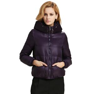雅鹿女士女款羽绒服 轻薄短款 韩版纯色修身 时尚亮片 秋装冬装外套YN20120