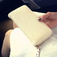 小细格单拉钱包新款韩版女士长款拉链手拿包零钱包时尚女包包  CY-8309