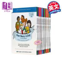 365个英文故事天天故事会 One Story A Day for early reader 英文原版赠送12张原版音频CD 每天一个磨耳朵睡前小故事 儿童英语学习书籍 小学课外阅读书 礼品盒装